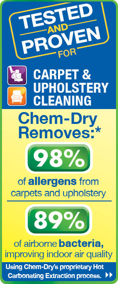 Professional carpet cleaning in Poway removes 98% of allergens and 89% of airborne bacteria