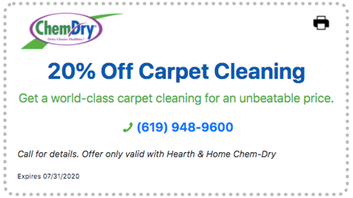 20% off carpet cleaning