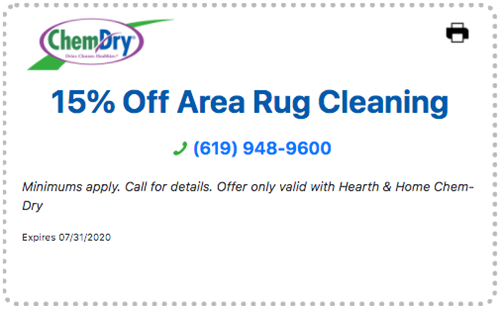 15% off area rug cleaning coupon